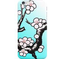 White Sakura Cherry Blossom Vector Design iPhone Case/Skin