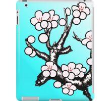 White Sakura Cherry Blossom Vector Design iPad Case/Skin