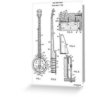 Long Neck Banjo patent from 1964 Greeting Card