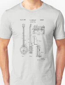 Long Neck Banjo patent from 1964 T-Shirt