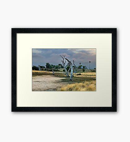 """""""Dry Parched Land"""" Framed Print"""