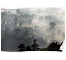 Fog Over Perugia Italy Poster