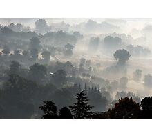 Fog Over Perugia Italy Photographic Print