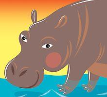 Hippo by Lyuda