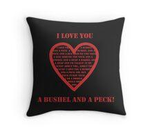Bushel And A Peck Throw Pillow