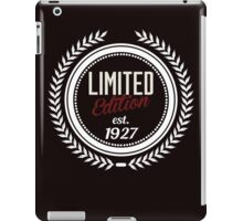 Limited Edition est.1927 iPad Case/Skin