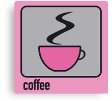 coffee pink Canvas Print