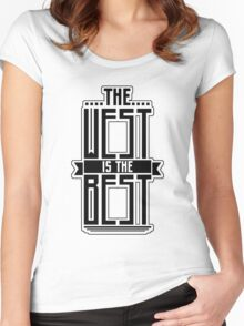 The West is the Best Women's Fitted Scoop T-Shirt