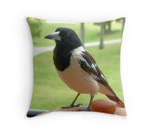 The Thief Awaits Throw Pillow