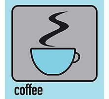 coffee blue Photographic Print