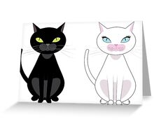 Black and white cats Greeting Card