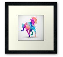 Geometric Horse Framed Print