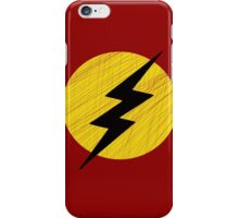 Grunge Lightning Bolt. iPhone Case/Skin