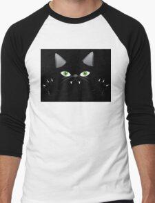 Black cat 2 Men's Baseball ¾ T-Shirt