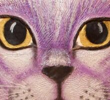 Lilac Burmese Cat Painting Sticker