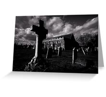 Dark clouds over Grave Yard Greeting Card