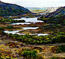 "The MUSEUM Artist Series jGibney Ireland 1999 Giclee on Canvas Window Shade Art or Wall Hanging Art 65"" x 52"" Sticker"