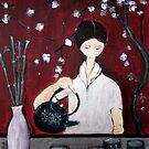 Girl Making Tea by lily pang