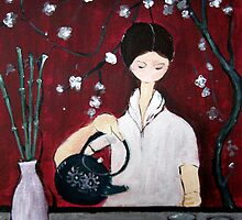 Girl Making Tea by lily pang
