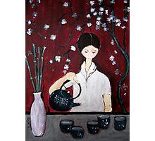Girl Making Tea Photographic Print