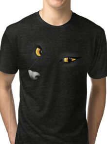 Black cat face 2 Tri-blend T-Shirt