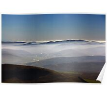 Misty Lanarkshire View Poster
