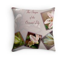 Oriental Lily Stages Throw Pillow