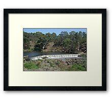 Yarra River - Dights Falls, Melbourne Framed Print