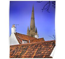 Sleepy Town Roof Tops Poster