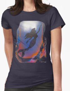 Mermaid reaching Surface Womens Fitted T-Shirt