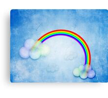 Abstract rainbow clouds Canvas Print