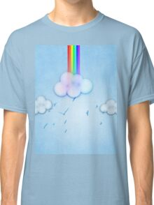 Abstract rainbow clouds 2 Classic T-Shirt