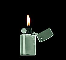 X-ray image of a Zippo lighter  by PhotoStock-Isra