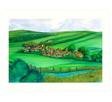 GREEN MEADOWS Art Print