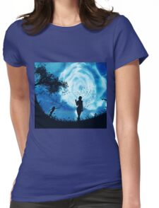 Abstract rose of clouds Womens Fitted T-Shirt