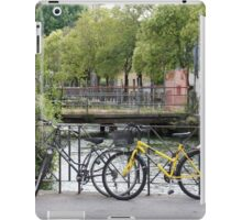 Bicycles by the river iPad Case/Skin