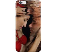 Romantic couple hugging underwater iPhone Case/Skin