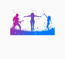 People silhouettes with grass and butterflies Unisex T-Shirt