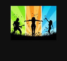 People silhouettes with grass and butterflies 3 Unisex T-Shirt