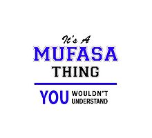 It's a MUFASA thing, you wouldn't understand !! by thestarmaker