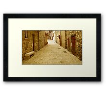 Alone on the lane Framed Print