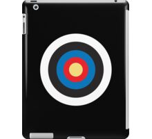 Bulls Eye, Right on Target, Roundel, Archery, Pop, Mod, on BLACK iPad Case/Skin