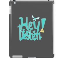Hey! Listen. iPad Case/Skin