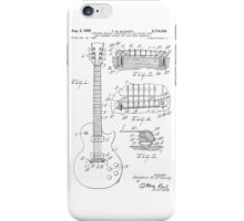 Les Paul  Guitar patent from 1955 iPhone Case/Skin
