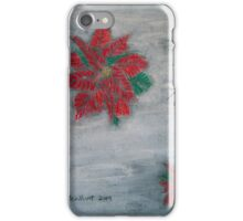 Poinsettia on Snow iPhone Case/Skin