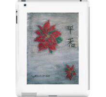 Poinsettia on Snow iPad Case/Skin
