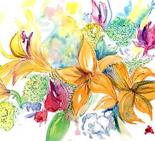 Watercolor Florals by clairemarice