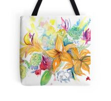 Watercolor Florals Tote Bag