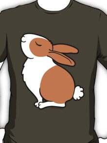 Proud Dutch Rabbit ... Brown and White T-Shirt