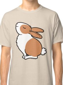 Proud Dutch Rabbit ... Brown and White Classic T-Shirt